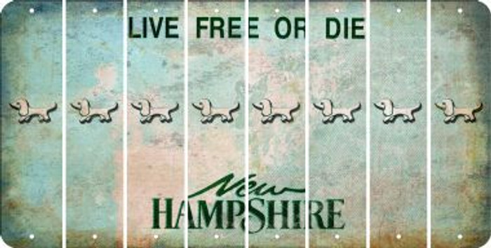 New Hampshire DOG Cut License Plate Strips (Set of 8) LPS-NH1-073