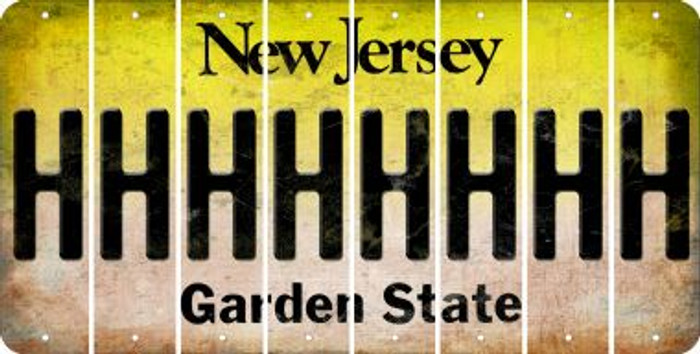 New Jersey H Cut License Plate Strips (Set of 8) LPS-NJ1-008