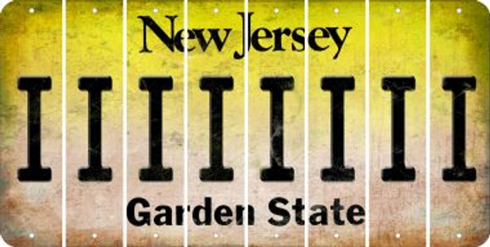 New Jersey I Cut License Plate Strips (Set of 8) LPS-NJ1-009