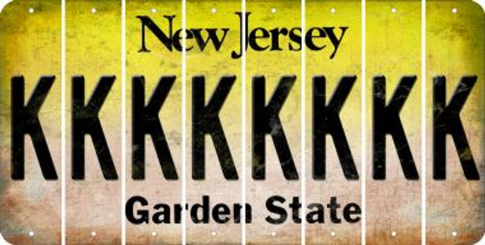 New Jersey K Cut License Plate Strips (Set of 8) LPS-NJ1-011