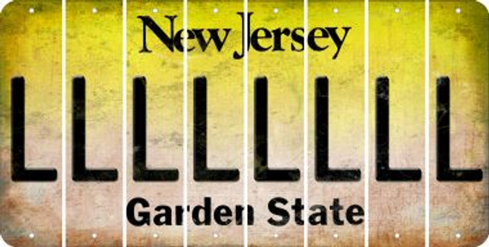 New Jersey L Cut License Plate Strips (Set of 8) LPS-NJ1-012