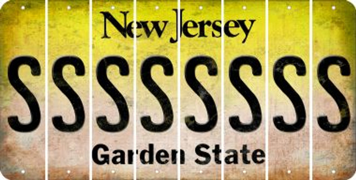 New Jersey S Cut License Plate Strips (Set of 8) LPS-NJ1-019