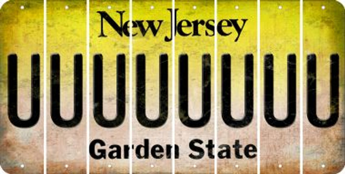 New Jersey U Cut License Plate Strips (Set of 8) LPS-NJ1-021