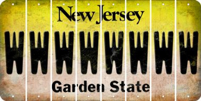 New Jersey W Cut License Plate Strips (Set of 8) LPS-NJ1-023