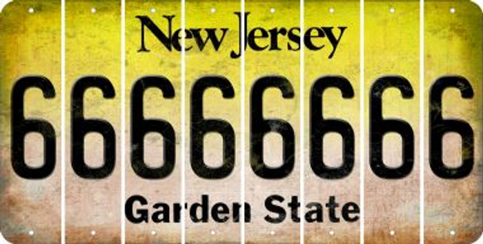 New Jersey 6 Cut License Plate Strips (Set of 8) LPS-NJ1-033