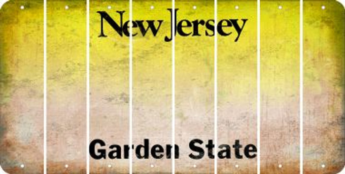 New Jersey BLANK Cut License Plate Strips (Set of 8) LPS-NJ1-037