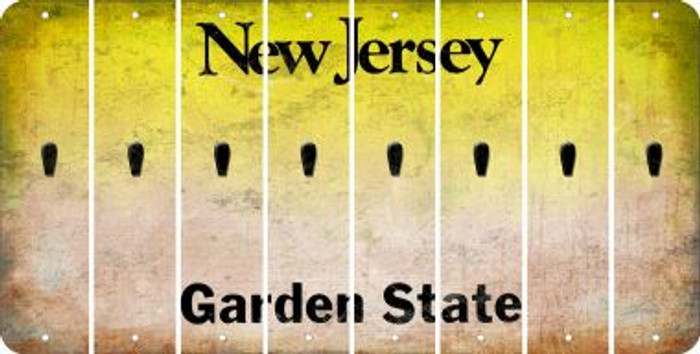 New Jersey APOSTROPHE Cut License Plate Strips (Set of 8) LPS-NJ1-038