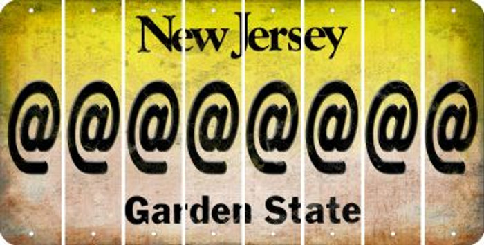 New Jersey ASPERAND Cut License Plate Strips (Set of 8) LPS-NJ1-039