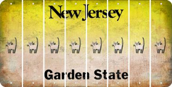 New Jersey CAT Cut License Plate Strips (Set of 8) LPS-NJ1-072