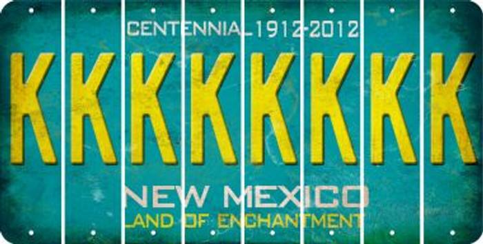 New Mexico K Cut License Plate Strips (Set of 8) LPS-NM1-011