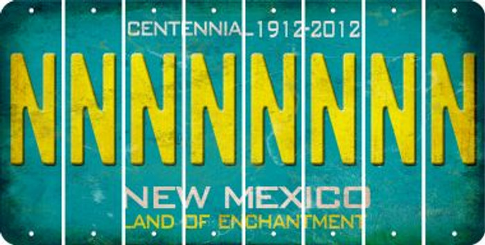 New Mexico N Cut License Plate Strips (Set of 8) LPS-NM1-014