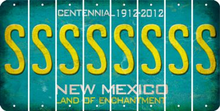 New Mexico S Cut License Plate Strips (Set of 8) LPS-NM1-019