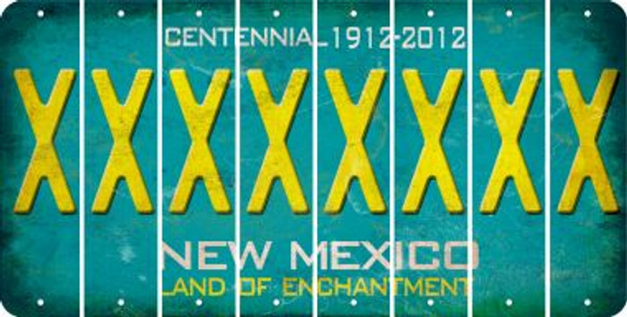 New Mexico X Cut License Plate Strips (Set of 8) LPS-NM1-024