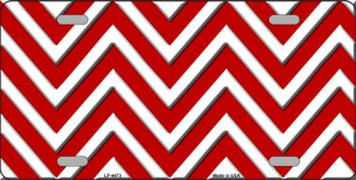 Red White Chevron Wholesale Metal Novelty License Plate LP-4473