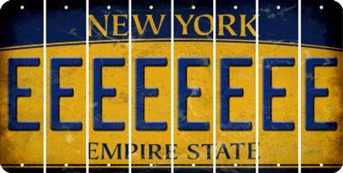 New York E Cut License Plate Strips (Set of 8) LPS-NY1-005