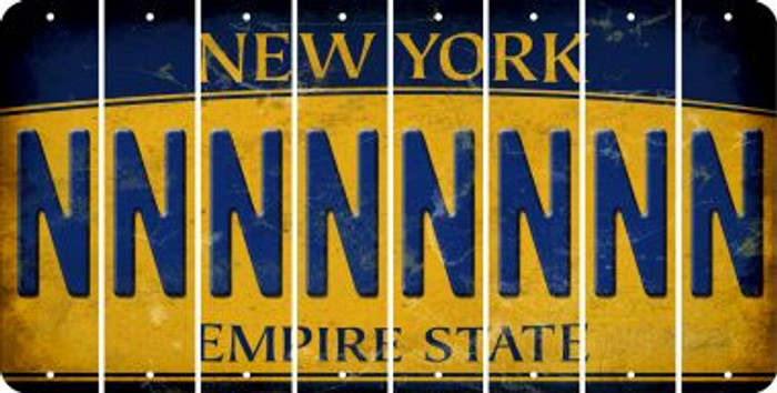 New York N Cut License Plate Strips (Set of 8) LPS-NY1-014
