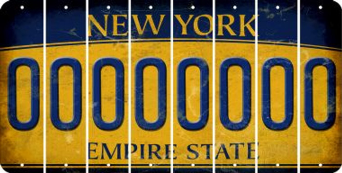 New York O Cut License Plate Strips (Set of 8) LPS-NY1-015