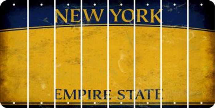 New York BLANK Cut License Plate Strips (Set of 8) LPS-NY1-037