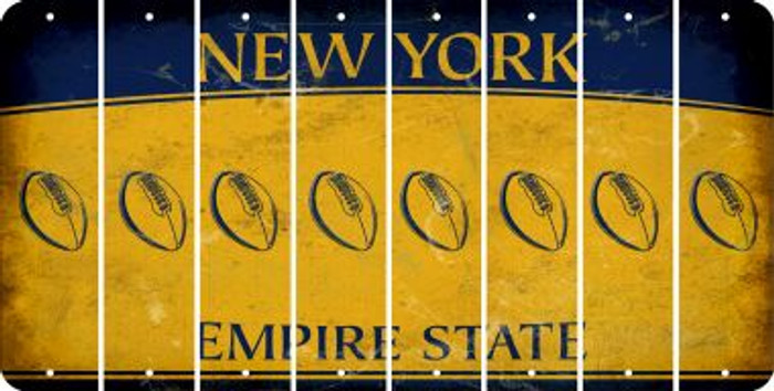 New York FOOTBALL Cut License Plate Strips (Set of 8) LPS-NY1-060