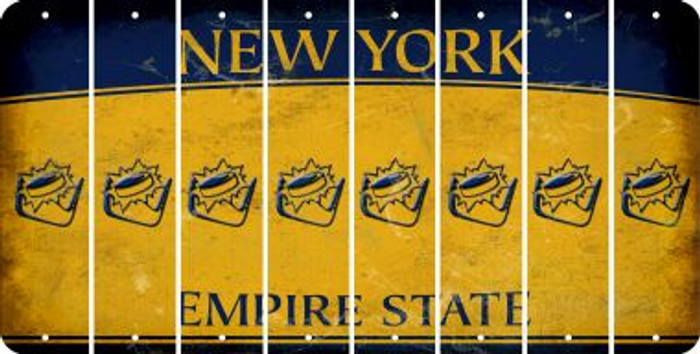 New York HOCKEY Cut License Plate Strips (Set of 8) LPS-NY1-062