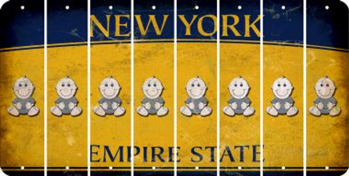 New York BABY BOY Cut License Plate Strips (Set of 8) LPS-NY1-066