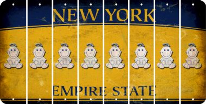 New York BABY GIRL Cut License Plate Strips (Set of 8) LPS-NY1-067
