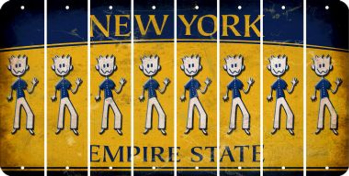 New York DAD Cut License Plate Strips (Set of 8) LPS-NY1-071