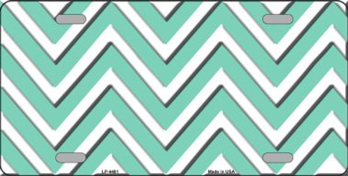 Mint White Chevron Wholesale Metal Novelty License Plate LP-4481