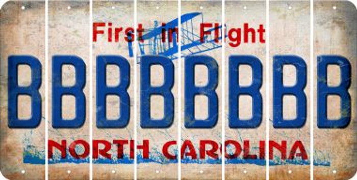 North Carolina B Cut License Plate Strips (Set of 8) LPS-NC1-002