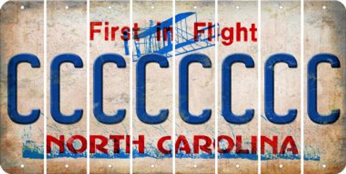 North Carolina C Cut License Plate Strips (Set of 8) LPS-NC1-003