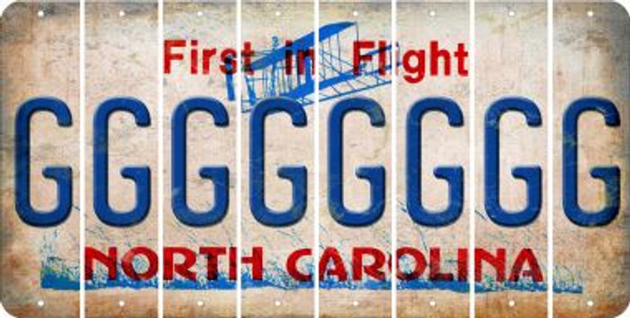 North Carolina G Cut License Plate Strips (Set of 8) LPS-NC1-007