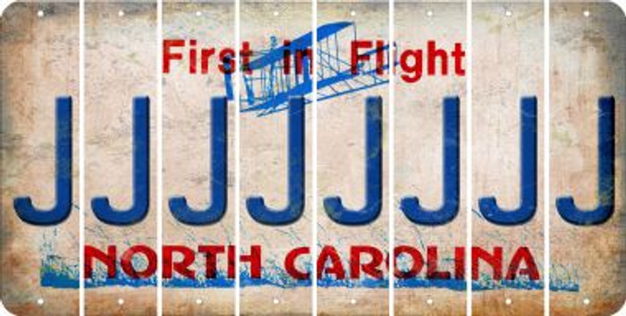 North Carolina J Cut License Plate Strips (Set of 8) LPS-NC1-010