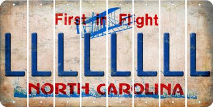 North Carolina L Cut License Plate Strips (Set of 8) LPS-NC1-012