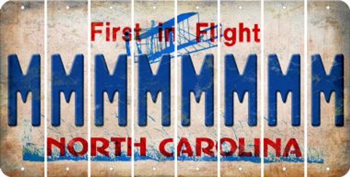 North Carolina M Cut License Plate Strips (Set of 8) LPS-NC1-013