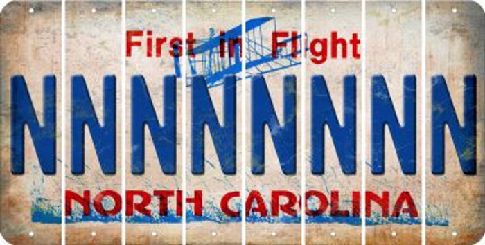 North Carolina N Cut License Plate Strips (Set of 8) LPS-NC1-014