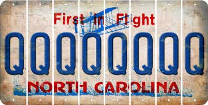North Carolina Q Cut License Plate Strips (Set of 8) LPS-NC1-017