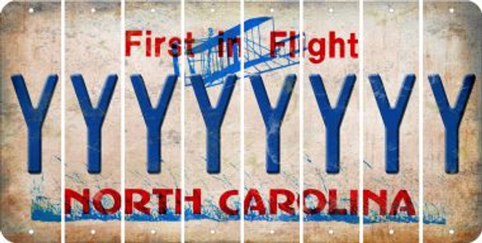 North Carolina Y Cut License Plate Strips (Set of 8) LPS-NC1-025