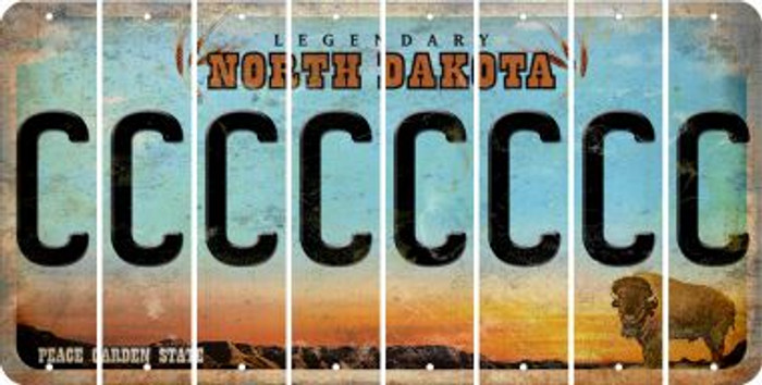 North Dakota C Cut License Plate Strips (Set of 8) LPS-ND1-003