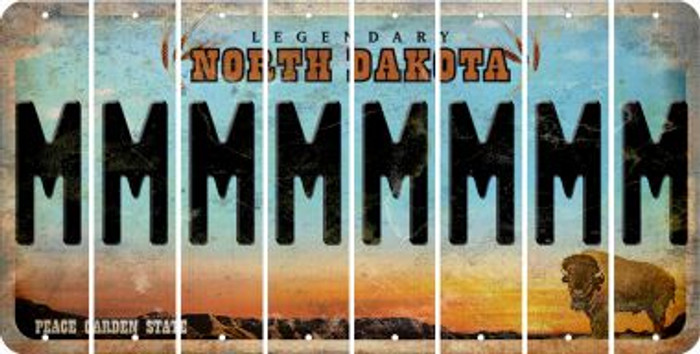North Dakota M Cut License Plate Strips (Set of 8) LPS-ND1-013
