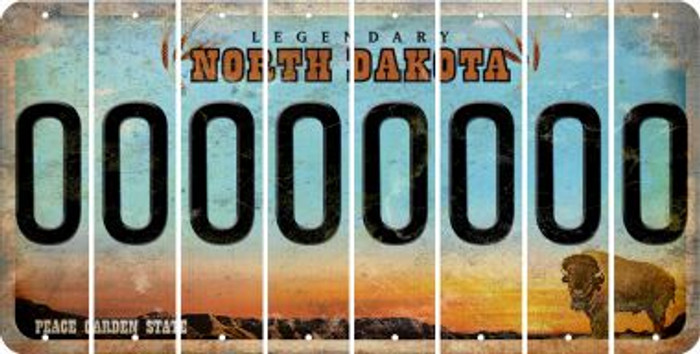 North Dakota O Cut License Plate Strips (Set of 8) LPS-ND1-015