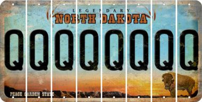 North Dakota Q Cut License Plate Strips (Set of 8) LPS-ND1-017