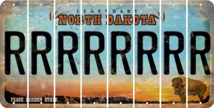 North Dakota R Cut License Plate Strips (Set of 8) LPS-ND1-018