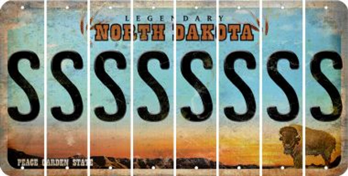 North Dakota S Cut License Plate Strips (Set of 8) LPS-ND1-019