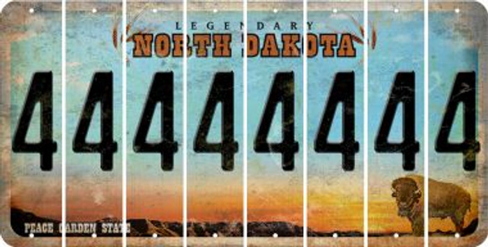 North Dakota 4 Cut License Plate Strips (Set of 8) LPS-ND1-031
