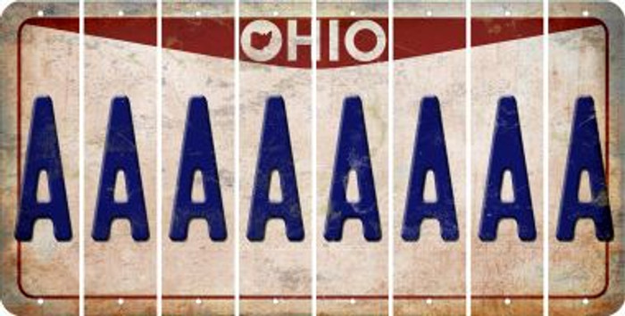 Ohio A Cut License Plate Strips (Set of 8) LPS-OH1-001