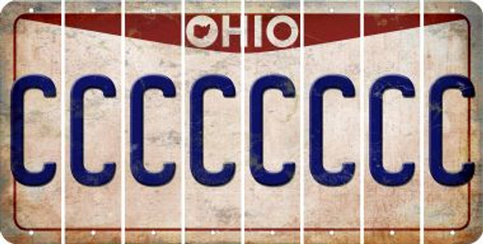 Ohio C Cut License Plate Strips (Set of 8) LPS-OH1-003