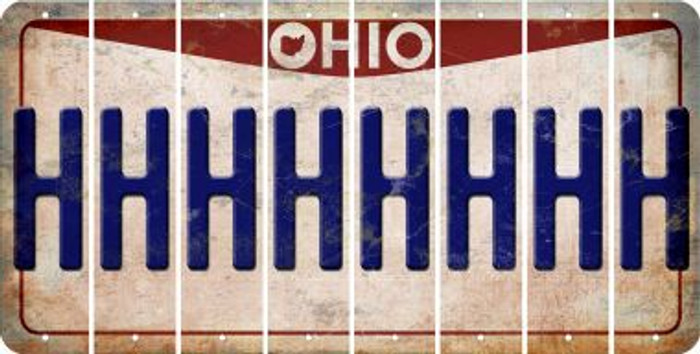 Ohio H Cut License Plate Strips (Set of 8) LPS-OH1-008
