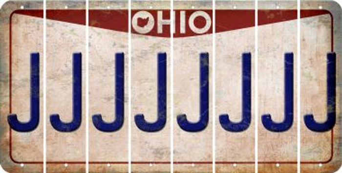 Ohio J Cut License Plate Strips (Set of 8) LPS-OH1-010