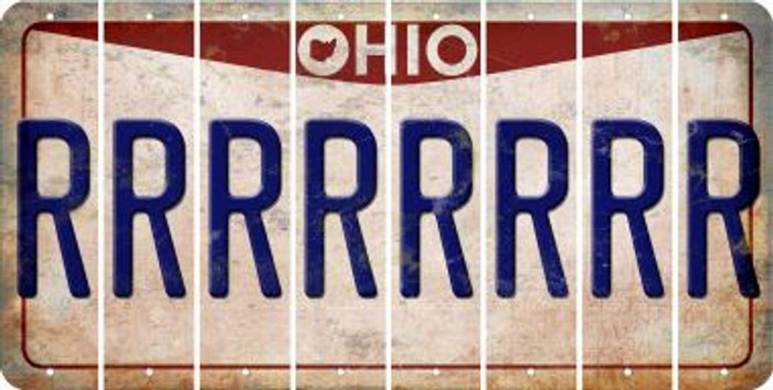 Ohio R Cut License Plate Strips (Set of 8) LPS-OH1-018