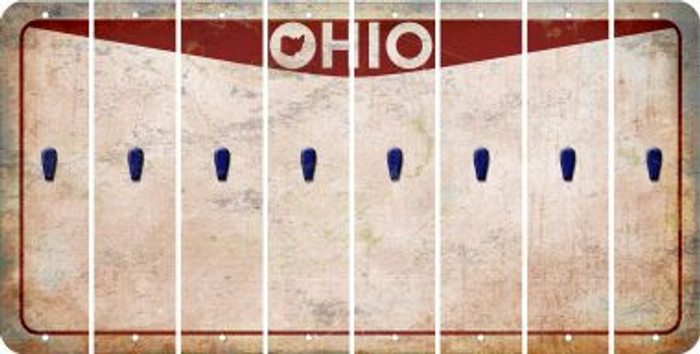 Ohio APOSTROPHE Cut License Plate Strips (Set of 8) LPS-OH1-038
